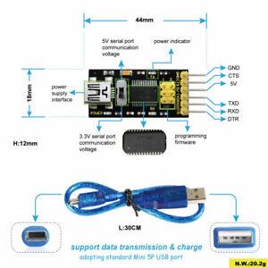 Keyestudio-3-3v-5v-FTDI-Breakout-USB-zu-TTL-Serial-Converter-Modul-fuer-Arduino