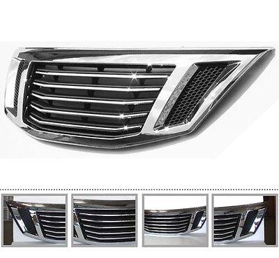 Genuine Chrome Front Hood Tuning Radiator Grill For 10 11 12 Kia Sorento R