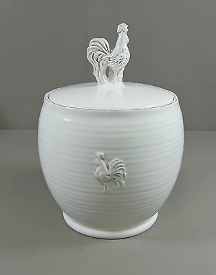 """Reduced! Artimino DAYBREAK WHITE 7"""" Canister with Lid  Excellent"""