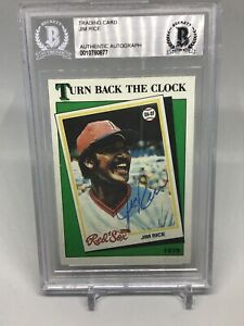 1988 Topps Tiffany Jim Rice Autograph Becket Authentic Turning Back The Clock