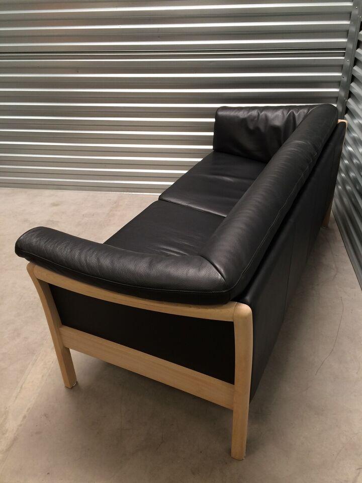 Sofagruppe, læder, 5 pers.