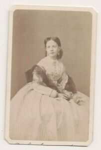 Vintage-CDV-Isabella-Princess-of-Asturias-Countess-of-Girgenti-Disderi-Photo