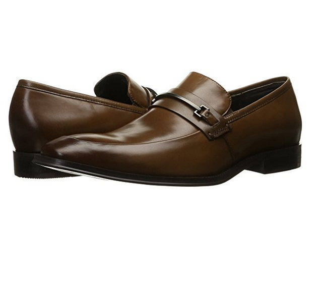 Kenneth Cole New York Men's North Shore Slip-On Loafers Shoes Cognac/Brown US11M