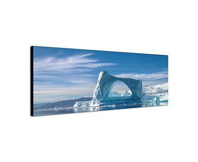 150x50cm Wandbild Panorama Arch bogenförmiger Eisberg Grönland Arktis Sinus Art