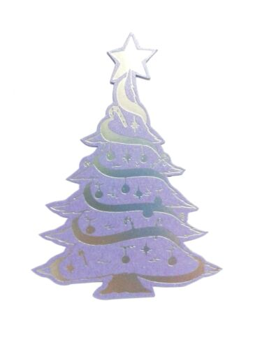 Dark Lilac /& Silver Foil 5 Die Cut  Large Christmas Tree topper embellishments