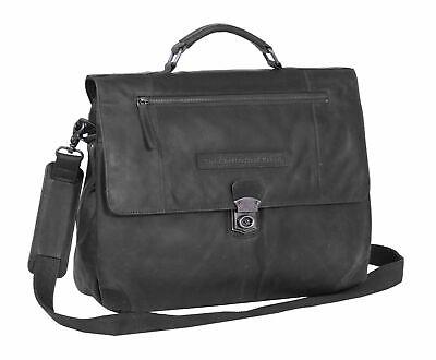 Streng The Chesterfield Brand Matthew Shoulderbag Aktentasche Tasche Black Schwarz Neu Ein Kunststoffkoffer Ist FüR Die Sichere Lagerung Kompartimentiert