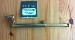 Treso-Brass-adjustable-Powder-Measure-0-to-120-grains-Spout-Muzzleloader-USA