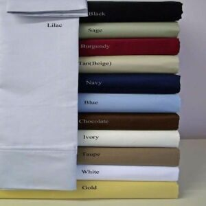 1000-TC-Egyptian-Cotton-Bed-Items-Sheet-Duvet-Set-Bedskirt-Twin-XL-Size-Solid