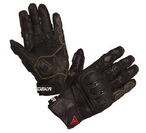 MODEKA-Baali-sportliche-Motorradhandschuhe-schwarz-Gr-11-XXL-Lederhandschuhe