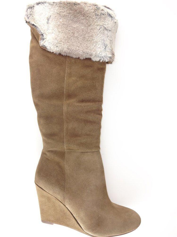 BCBGeneration Women's Mocha Boots Coconut Oily Calf Size 8.5 M