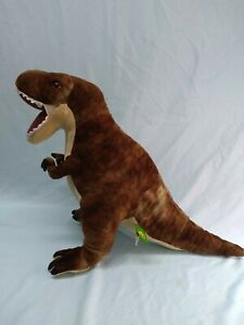 "Wild Republic T Rex Dinosaur Plush Soft White Brown Stuffed Animal 15"" (5)"