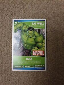Number 13 HulkSainsbury/'s Disney Heroes 2019 Card