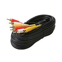 18 Ft Stereo Audio Video A/v Av 3-rca Cable Gold Plated Usa Seller