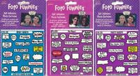 Foto Funnies Lot Of 3 Sticker Sets Party Hardy, Pets, Sports Photo Cartoons Nip