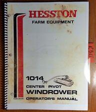 Hesston 1014 Center Pivot Windrower S/N 1014-1700- Owner's Operator's Manual