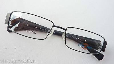 Brillante Montatura Occhiali Acciaio Black Sottile Ampio Molla Staffa Misura M-mostra Il Titolo Originale Facile Da Lubrificare