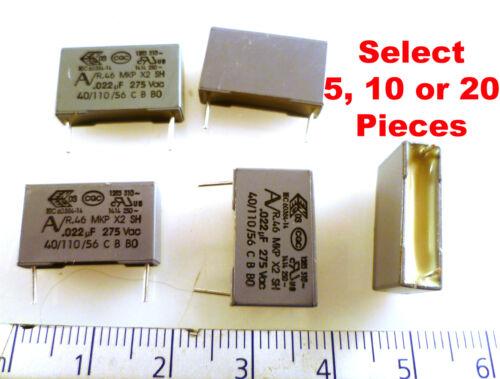 Kemet R46KI22200001K MKP X2 Capacitors 275Vac .022uF EMI Sup MBF017G