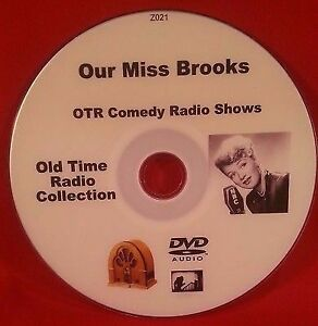 Our-Miss-Brooks-180-OTR-Comedy-Shows-MP3-DVD-Old-Time-Radio-Shows-Audio-Book