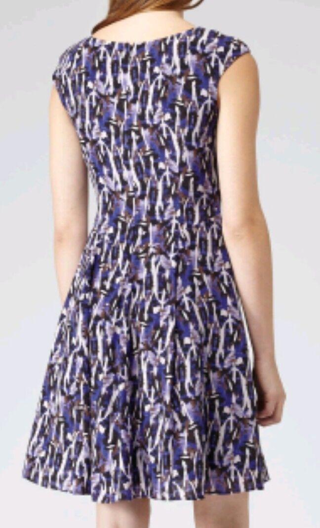 Designer Designer Designer REISS Allegra Silk dress size 12 --BRAND NEW-- 100% Silk fit &flare 2957db