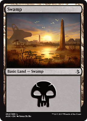 Magic the Gathering FOIL SWAMP x10 card mtg NM basic land cards mixed