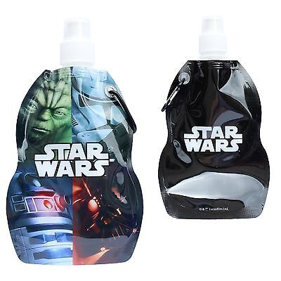 Star Wars Foldable Water Drink Bottle with Carabiner Clip