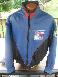 Vintage NHL CCM Pro Player New York Rangers Lether Bomber Jacket ... 2ec94ff8c