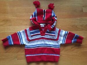 Jojo Maman Bébé Hooded Wool Sweater 6-12 Months