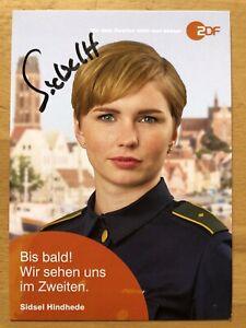 Sidsel-Hindhede-Ak-ZDF-Soko-Wismar-Carte-Autographe-Original-Dedicace