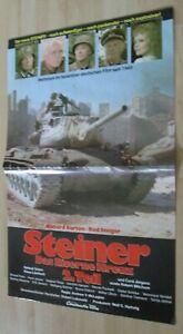 Filmplakt : Steiner Das Eiserne Kreuz 2. Teil (Richard Burton , Robert Mitchum) - Braunschweig, Deutschland - Filmplakt : Steiner Das Eiserne Kreuz 2. Teil (Richard Burton , Robert Mitchum) - Braunschweig, Deutschland