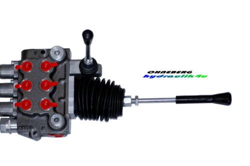 Válvula de hydraulikventil 3-especializada 3 x DW cruz palanca 50 L//min 350 bar