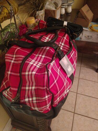 NEW The Honour Society Louisville Cardinals Plaid Weekender Duffle Bag