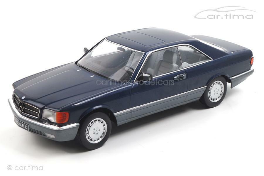 Mercedes-Benz 560 SEC C126 - blau - KK Scale 1 18 - KKDC180333