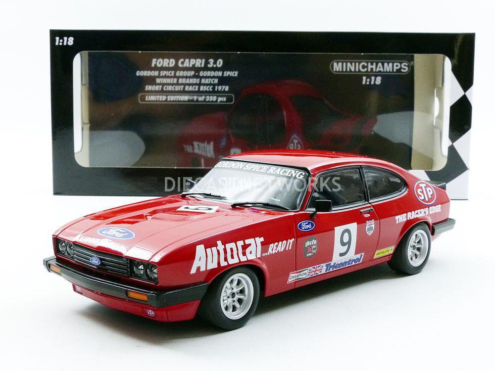 Minichamps Ford Capri 3.0 Winner Brands Hatch Short Circuit 1978  18 New