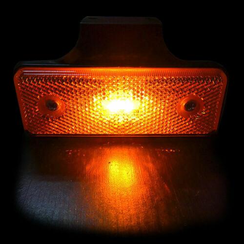 10x LED Seitenmarkierungsleuchte 24V E9 Orange LKW Anhänger Begrenzungsleuchten