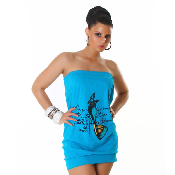 Vestido verano azul turquesa