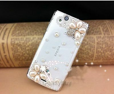 Bling Diamond Crystal flower Case Cover For Sony Ericsson Xperia Arc S LT18i