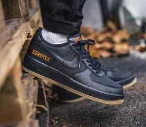 Detalles de Nike Air Force 1 Gore Tex Negro de Carbono Goma Marrón para  Hombre Zapatillas Uk Size 6-12- ver título original