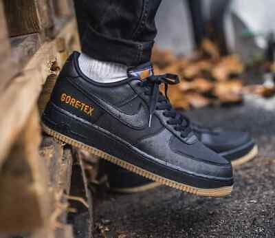 Nike Air Force 1 Gore Tex Negro de Carbono Goma Marrón para Hombre  Zapatillas Uk Size 6-12 | eBay