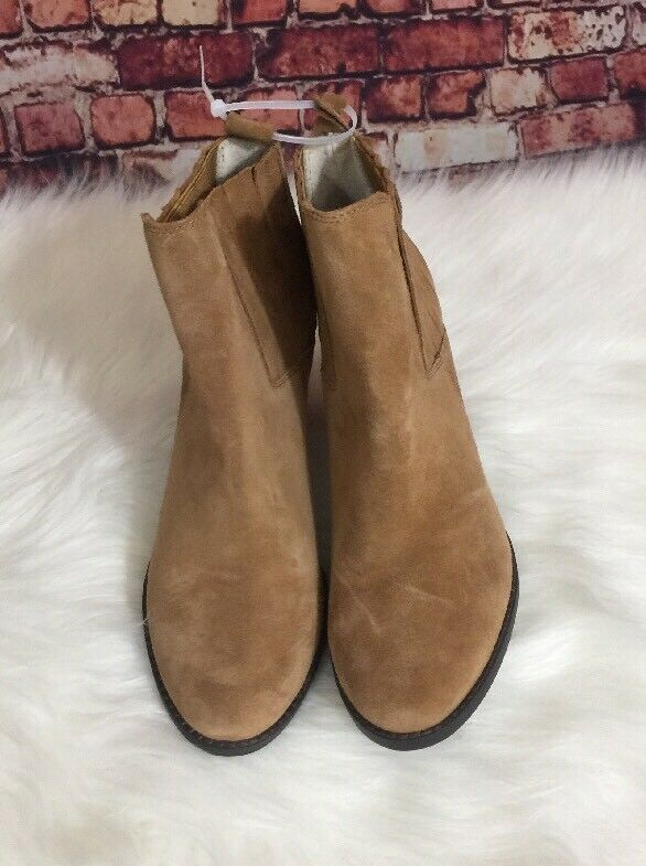 Splendid Brown Elastic Ankle Boots Size 10M