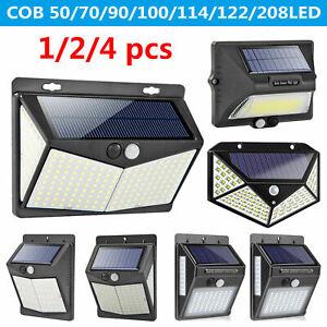 50-208LED-Solar-Luz-de-Pared-Sensor-de-Movimiento-Jardin-IP65-Seguridad-Lampara