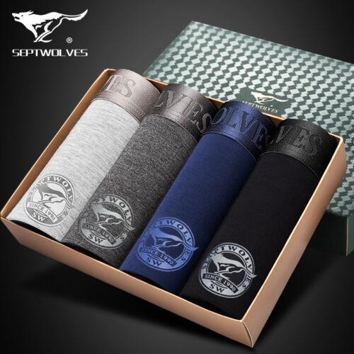 "4 Pair Men's Seamless Microfiber Boxer Brief Underpants Big Size Waist 26""-44"""
