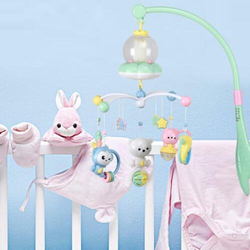 Bett Glocke Babybett Nachtlicht Musik Rotierende Rassel Spielzeug Kleinkinder DE
