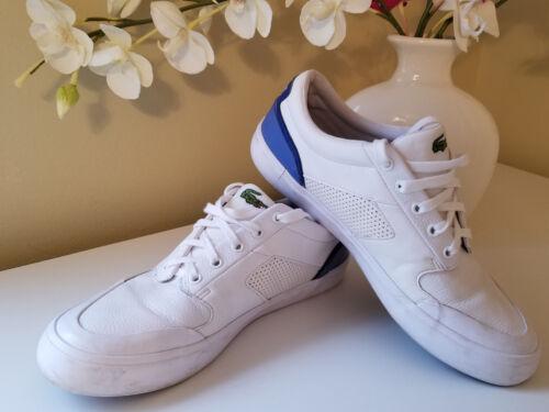 para Zapatillas para cuero 8 bajo mujer 5 Lacoste 9 talla de de unisex blanco Sz hombre tamaño OWO41rq