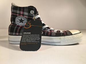 Converse CT GRUNGE HI Chuck Taylor All Star SNEAKER GREY PLAID 36 NUOVO