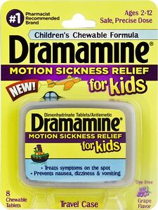 Dramamine-Children-039-s-Chewable-Tablets-Motion-Sickness-8-Chewable-Grape-Tablets