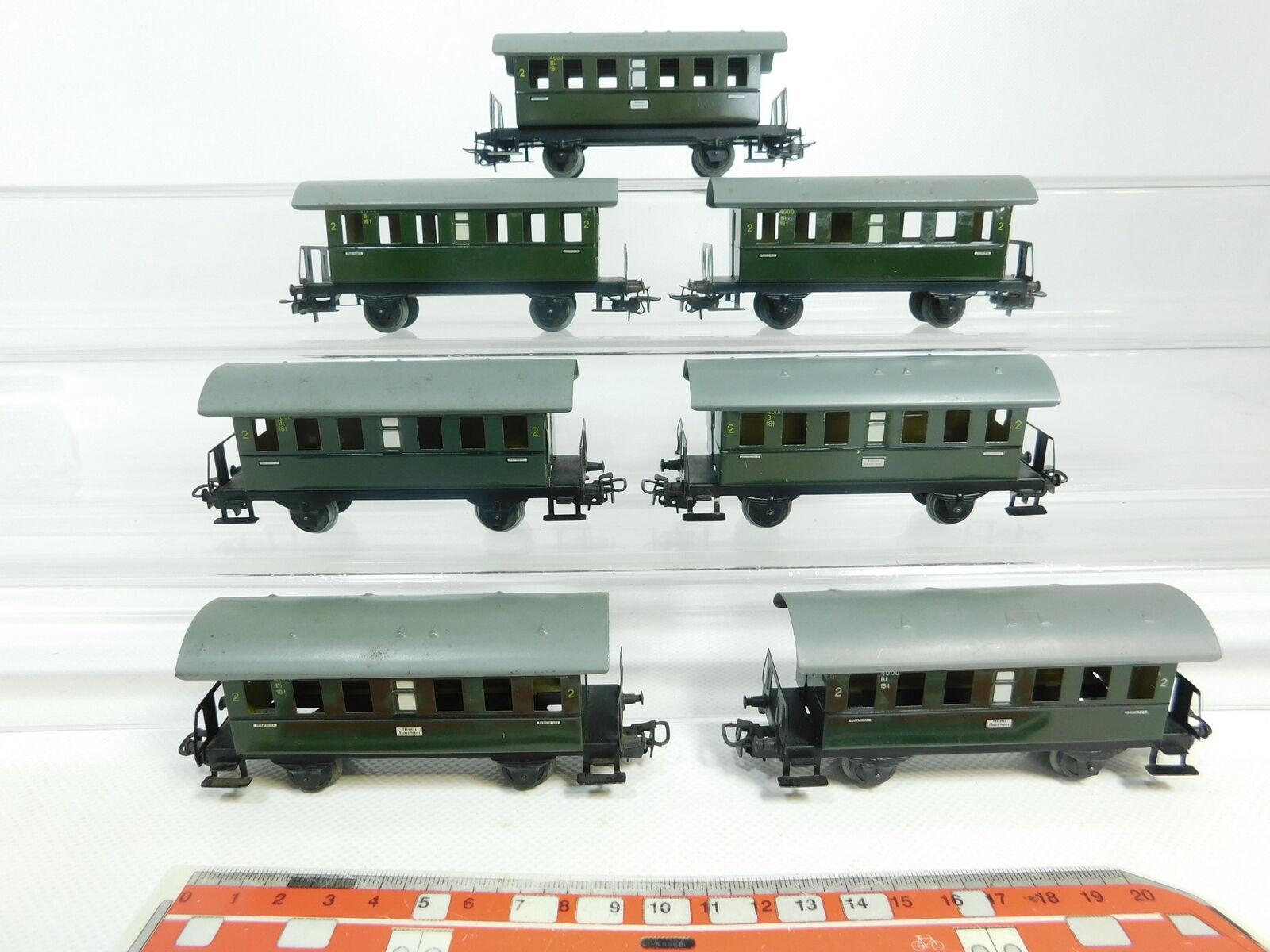 Bg688-1  7x   h0/ac 4000-LAMIERA vetture passeggeri 2. classe BI 18t