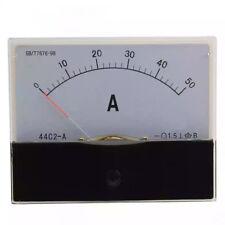 Dc 0 50a Scale Range Current Panel Meter Amperemeter Gauge 44c2 Ammeter Analog