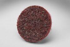 3m 07481 2 Medium Scotch Brite Roloc Conditioning Surface Grit Maroon Discs