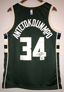 Image is loading Giannis-Antetokounmpo-Autograph-Bucks -Signed-Nike-NBA-Jersey- ec7f8909a7424