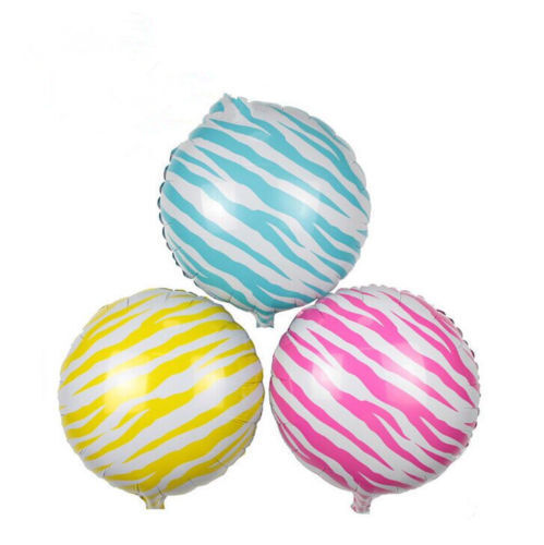 Lámina Zebra Print 18 Pulgadas Globos Adecuado Para Helio Ideal Gallina Fiesta De Cumpleaños